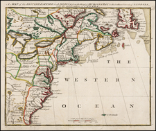 United States, New England, Mid-Atlantic, Southeast and Canada Map By Owen's Magazine of Magazines