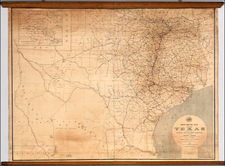Texas, Plains and Southwest Map By Post Office Department