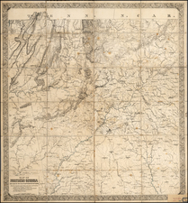 South and Georgia Map By William E. Merrill