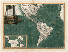 North America, South America and America Map By Elia Endasian