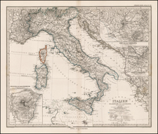 Italy Map By Adolf Stieler