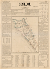 Mexico Map By Antonio Garcia y Cubas