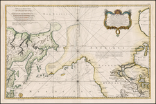Polar Maps, Midwest, Alaska, Pacific, Russia in Asia, California and Canada Map By Jacques Nicolas Bellin
