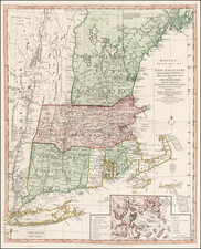New England Map By Thomas Bowles