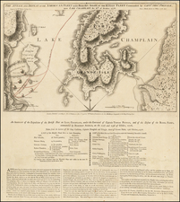 New England and Vermont Map By William Faden