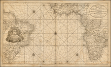 Atlantic Ocean, South America, Africa and West Africa Map By Gerard Van Keulen