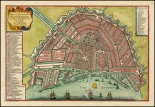Netherlands Map By Nicolas de Fer