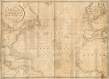 Atlantic Ocean, United States, North America and Caribbean Map By William Heather / John William Norie