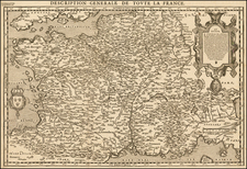 France Map By Francois De Belleforest