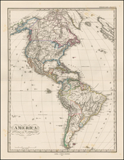 South America and America Map By Adolf Stieler