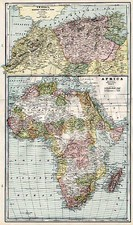 Africa, Africa and North Africa Map By George F. Cram