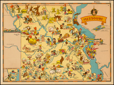 Plains and Missouri Map By Ruth Taylor White