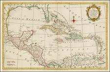 Caribbean Map By Thomas Kitchin