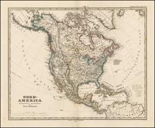 North America Map By Adolf Stieler