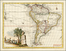 South America Map By Giambattista Albrizzi