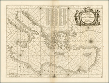 Greece, Turkey, Mediterranean, Balearic Islands and Turkey & Asia Minor Map By Vincenzo Maria Coronelli