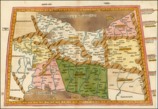 Central Asia & Caucasus and Middle East Map By Johann Reger