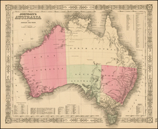 Australia Map By Benjamin P Ward  &  Alvin Jewett Johnson