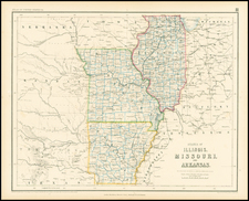 South, Midwest and Plains Map By Henry Darwin Rogers  &  Alexander Keith Johnston