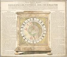 Northern Hemisphere, Polar Maps, Celestial Maps and Curiosities Map By Johann Baptist Homann