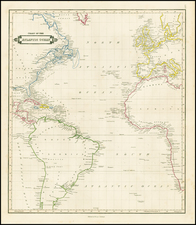 Atlantic Ocean Map By William Home Lizars