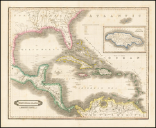 South, Southeast, Caribbean and Central America Map By David Lizars