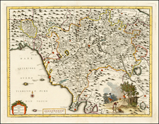 Italy Map By Giambattista Albrizzi