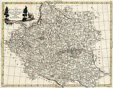 Europe and Poland Map By Antonio Zatta