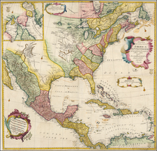 North America Map By Leonard Von Euler