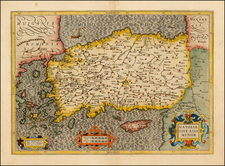 Turkey, Balearic Islands and Turkey & Asia Minor Map By  Gerard Mercator