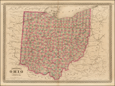 Midwest Map By Alvin Jewett Johnson