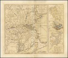 New England Map By Sayer & Bennett