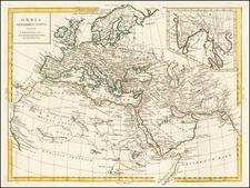 World, World, Africa and North Africa Map By Antonio Zatta