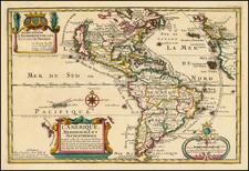 California as an Island and America Map By Nicolas de Fer