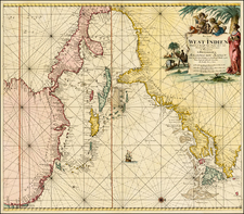 United States, Mid-Atlantic, Florida, South, Southeast, Canada, Caribbean and Central America Map By Johannes Van Keulen