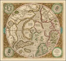 Northern Hemisphere, Polar Maps and Alaska Map By Gerard Mercator