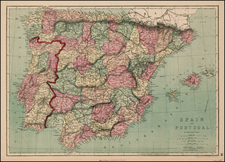 Spain and Portugal Map By J. David Williams