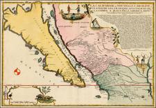 La Californie ou Nouvelle Caroline, Teatro De Los Trabajos Apostolicos De Compa. E. Jusus En Americae Septe. . . . 1720 By Nicolas de Fer