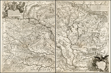 Austria, Hungary, Romania and Balkans Map By Giacomo Giovanni Rossi - Giacomo Cantelli da Vignola