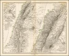Holy Land Map By Adolf Stieler