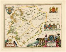 British Isles Map By Johannes Blaeu