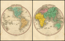 World, World, Eastern Hemisphere and Western Hemisphere Map By Anthony Finley