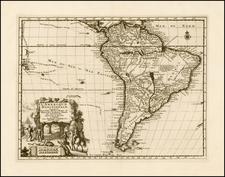 South America Map By Pieter van der Aa