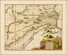 Middle East, Holy Land, Egypt and North Africa Map By Peter Schenk  &  Gerard Valk