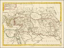 Turkey, Central Asia & Caucasus and Turkey & Asia Minor Map By Antonio Zatta