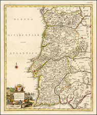 Portugal Map By Giambattista Albrizzi