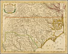 South and Southeast Map By Thomas Kitchin / London Magazine