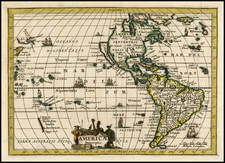 South America and America Map By Philipp Clüver