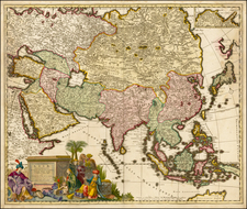 Asia and Asia Map By Carel Allard