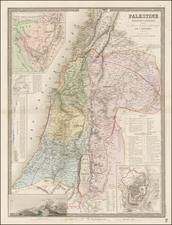 Holy Land Map By Eugène Andriveau-Goujon
